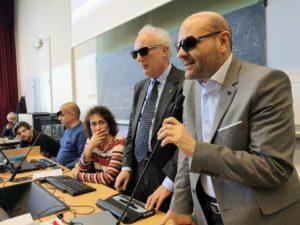 Il presidente nazionale UICI, Mario Barbuto, e il presidente del Club Italiano del Braille, Nicola Stilla